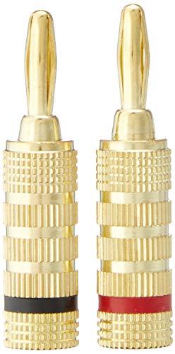 Monoprice 121821 24k Gold Plated Speaker Banana Plugs, Closed Screw Type (12 Pairs)