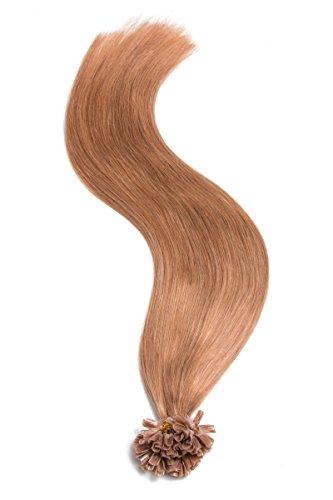 Keratin Bonding Extensions capillaires en cheveux humains 100% naturels Remy Hair avec mèches lisses et longs cheveux Couleur 60 Blond blanc 25 x 1 g x 18 cm
