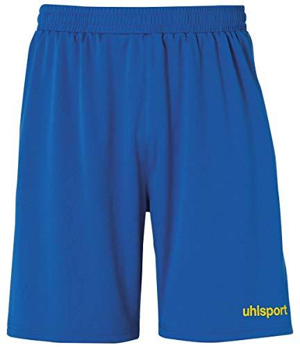uhlsport Short Center Basic pour Enfant - Unisexe - sans Slip intérieur XS Bleu Azur/Jaune