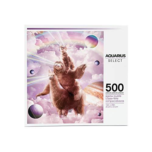 AQUARIUS Random Galaxy Laser Eyes Cat Sloth Llama Puzzle (500 Piece Jigsaw Puzzle) - Officially Licensed Random Galaxy Merchandise & Collectibles - Glare Free - Precision Fit - 16 x 20 Inches
