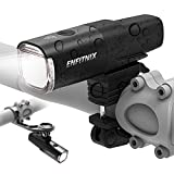 ENFITNIX Front Bike Light Rechargeable Auto Sensing Headlight 800 Lumen Super Bright Bicycle Lights,5 Light Modes for Cycling,Hiking,Camping (Headlight)