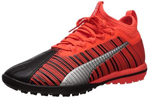PUMA mens One 5.3 Turf Trainer Sneaker, Puma Black-red Red-puma Aged Silver, 13 US
