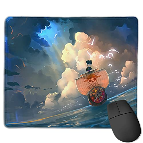 Vividuke Anime one Piece Mouse Pad,Mini Gaming Navigation Mouse Pads with Stitched Edges,Non-Slip Small Soft Office Mouse Pads Mat for Laptop Computer & Pc 10 X 12 Inch