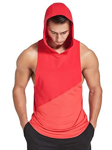 Zentrex Men's Workout Hooded Tank Tops Bodybuilding Muscle...