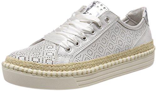 Marco Tozzi 23760, Zapatillas para Mujer, Plateado (Silver), 40 EU