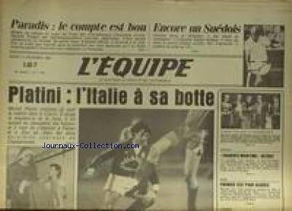 EQUIPE (L') [No 11691] du 13/12/1983 - PLATINI - ITALIE - PARADIS - UN SUEDOIS - EDBERG - TENNIS - BATEAUX - BOXE - ACARIES.