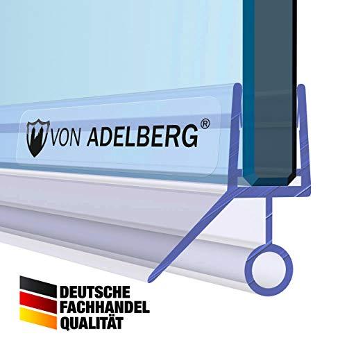 Duschdichtung Wasserabweiser Gerade PVC Ersatzdichtung für Dusche Typ: VA009 - Länge: 60 bis 200 cm - Glasstärke: 6 mm, Dichtung Länge:80 cm