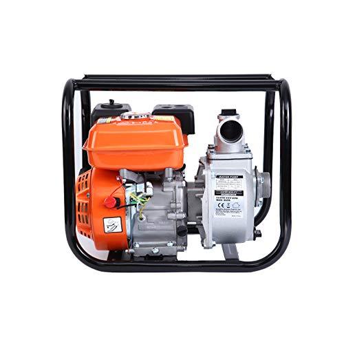 MuGuang Benzin Wasserpumpe 3600 /Min 196CC 5.5HP 4-Takt Gartenpumpe Pumpe Wasserpumpe 30,000L/H per Stunde zum Pumpen oder Befüllen von Schwimmbädern