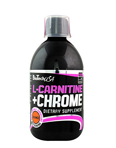 BioTech USA IAF00020594 L-Carnitine 35.000 mg e Chrome, 500 ml, Arancia
