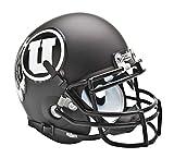 NCAA Utah Utes Collectible Alt 2 Mini Helmet, Matte Black/White