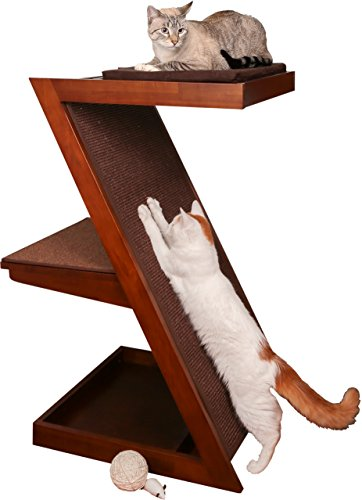 The Refined Feline ZENCAT-MA Zen Cat Scratcher Post, Mahogany