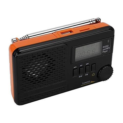 Draagbare radio met ingebouwde luidspreker, FM/MW-radio, datum/week/maand, MP3-speler radio met meerdere displays, alarmfunctie, USB/TF-kaartingang, radio met alarm