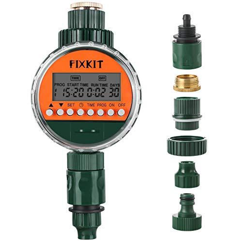 FIXKIT Programmatore di Irrigazione, Timer da Irrigazione,Valvola magnetica intelligente, computer di irrigazione, classe di protezione IP68, irrigazione automatica per piante in vaso