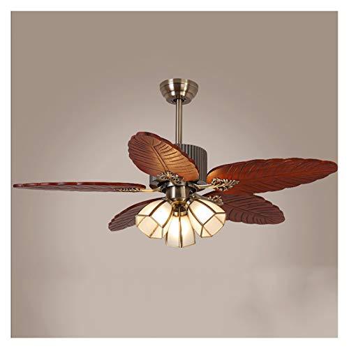 Luces de ventilador de techo País estilo de la vendimia Ventilador de techo, de 48 pulgadas de la lámpara del techo del ventilador con el Kit de iluminación integrado y control remoto, Cinco reversibl