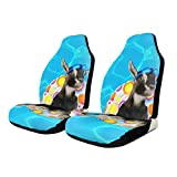 QBahoe Car Seat Covers Whatever Floats Yours Goat Funny Swimming Car Seat Protector Cushion Group Universal Pair Bucket Seat Cover Fits Most Cars Trucks SUVs Vans 2 PCS