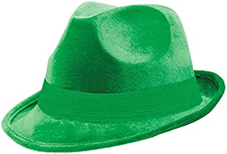 Amscan Velour Fedora, Party Accessory, Green