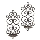 Gallery of Light F.A. Decors Tuscan Mediterranean Scroll Work Metal Candle Wall Sconces