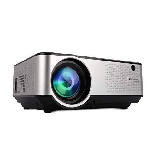 ZEBRONICS ZEB-LP2800 Full HD Home Theatre Projector 2800 Lumens with Built in Speaker, HDMI, VGA, USB, AV in, mSD Slot, AUX Out, 1080p Support and Remote Control