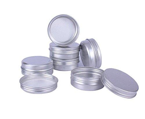 12 STÜCKE 60 ML/Gramm 2 unze Silber Aluminium Kosmetik Probe Verpackung Dosen Fällen mit Schraubdeckel Runde Vorratsglas Behälter für Lippenbalsam