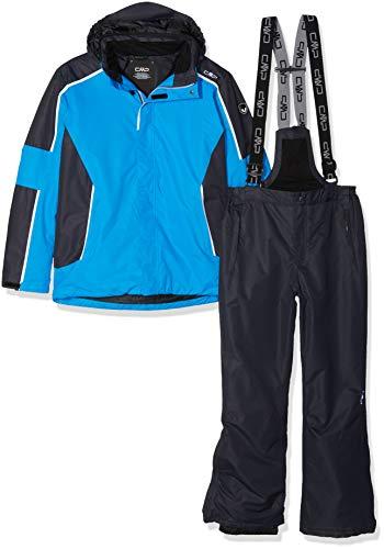 CMP Feel Warm Flat 3.000, Set Giacca E Pantaloni Imbottiti Bambini e Ragazzi, Cyano, 110