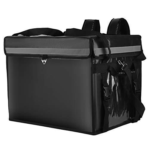 H HUKOER Bolsa de entrega de comida para pizza, impermeable, caja refrigeradora para llevar, grande, con aislamiento térmico, calentador de alimentos, bolsas de transporte para llevar(44L)
