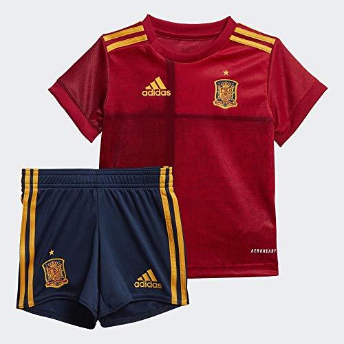 adidas Selección Española Temporada 2020/21 Miniconjunto Baby Primera equipación, Unisex, Top:Victory Red Bottom:Collegiate Navy, 86