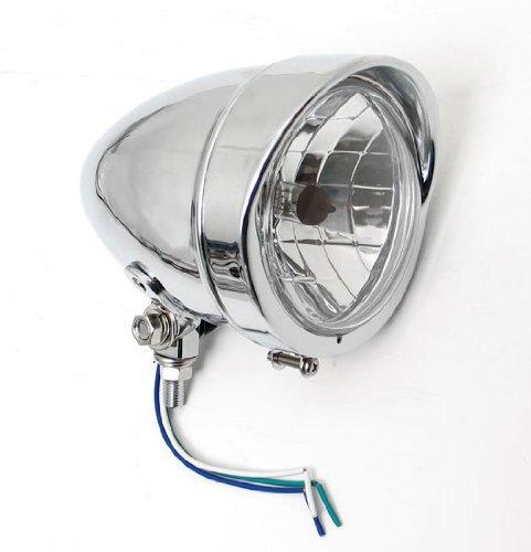 Bobber Chrome Headlight with Visor Light Lights fits Harley-Davidson