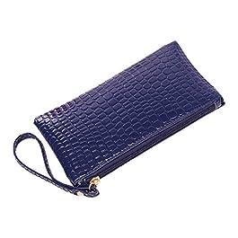 Fanspack Dames Sacs à Main Femmes Portefeuille Créatif D'embrayage Sac à Main Téléphone Embrayage Portefeuille en Cuir…
