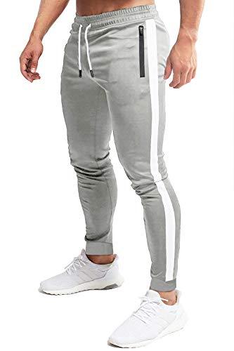 MAGCOMSEN - Fitness-Hosen für Herren in Hellgrau #1, Größe 38