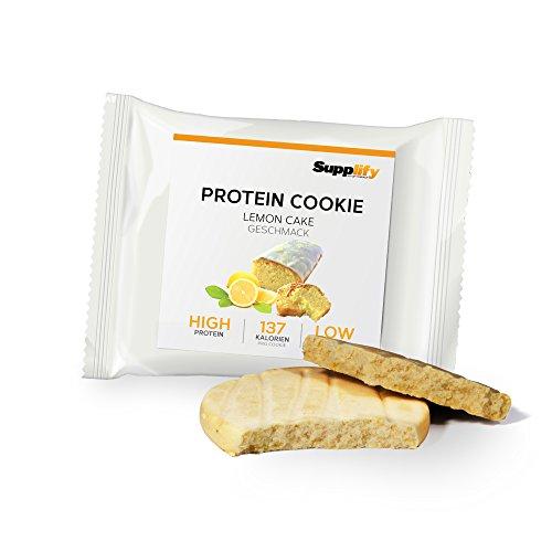 Protein Cookies nur 138 kcal Lemon Cake wie Proteinriegel mit Whey Eiweiß 6x 40g Riegel