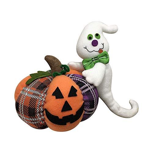 Demarkt–Halloween Desktop muñecas Halloween decoración Figuras Peluche Juguete Halloween Creativo Regalo Estilo C
