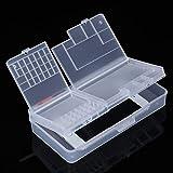 Infigo - Caja de almacenamiento para teléfono móvil, reparación de herramientas de repuesto, tornillos, piezas pequeñas UVM.