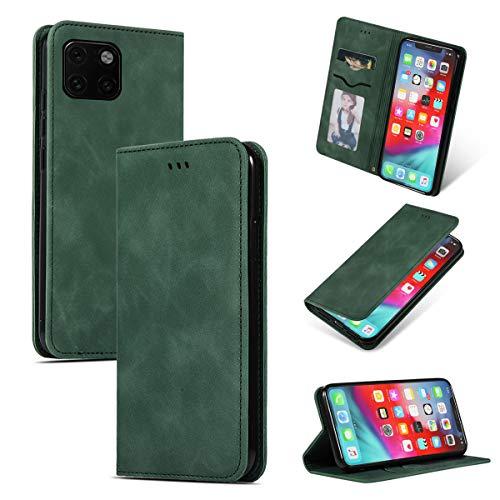 futypei für iPhone 11 Pro Hülle, Slim Leder Flip Case [Stoßfest] [Kartensteckplatz] Magnetisch Ledertasche Handyhülle Schutzhülle Tasche Brieftasche Etui für iPhone 11 Pro Grün