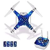Accesorios para drones Starry Sky Etiqueta de piel impermeable de PVC para DJI Phantom 3 Película protectora para el cuerpo del dron + Cubierta del control remoto [J30029] Accesorios para cuadricópter