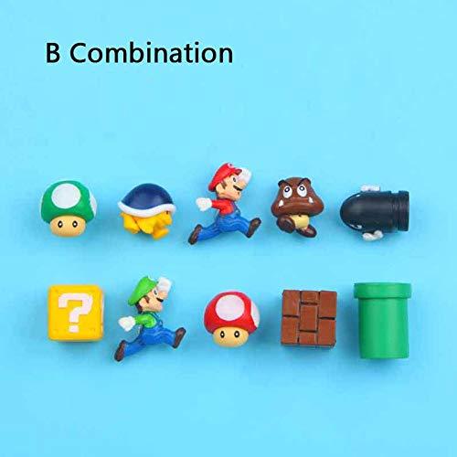 Ligoi 10 stks 3D Super Mario Bros Koelkast Magneten Koelkast Magneet Message Sticker Volwassene Man Meisje Jongen Kinderen Speelgoed Verjaardagscadeau Geel