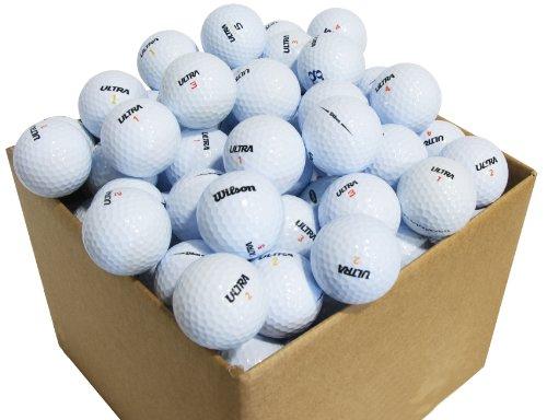 Second Chance Golfbälle 100 Wilson Ultra Qualitäts Lake, weiß, VAL-100-BOX-WILS