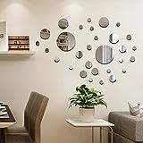 CUNYA 32 pegatinas redondas de acrílico para decoración de pared, para decoración de pared, DIY 3D, decoración del hogar para sala de estar, dormitorio, decoración de granja (sólido)