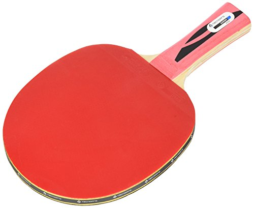 TECNOPRO Tischtennis-Schläger Expert 3 Stern Tischtennisschläger, Schwarz/Rot, One Size