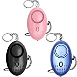 Emergency Personal Alarm, 3 Pack 140DB Personal Siren Keychain with LED Lights, Men, Women, Children, Elderly Emergency Security Alarm, Self Defense Electronic Device