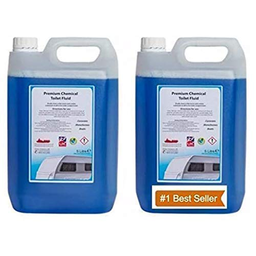 We Can Source It Ltd - Portable Fluid Toilet Cleaner - 10L Blue Chemical Fluid Cleaner for Loo, Boats, Caravan, Camping Toilet - Highly Concentrated and Long Lasting