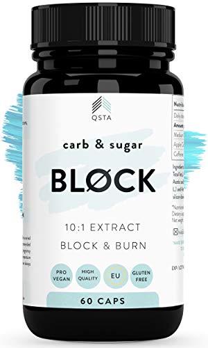 Keto Carb & Sugar BLOCK 4000mg (60 DIAS) - Potente Bloqueador de Hidratos & Azucar para adelgazar y rapido por 18 horas, Fat burner compatible con todas las dietas +MEDICOS
