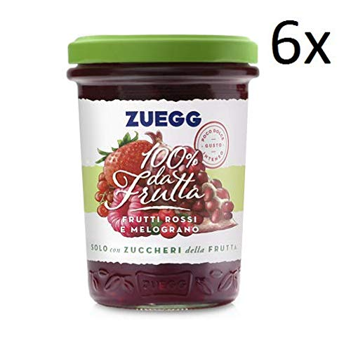 6x Zuegg rote Früchte Granatapfel Marmelade Konfitüre Brotaufstriche Italien 250g