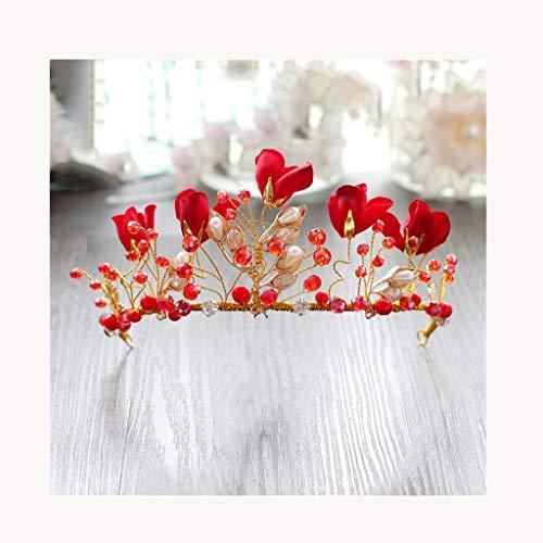 LYM Serre-tête Couronne Fleurs Fleur Couronne Fille Mariage Programme Accessoires (Couleur : A)