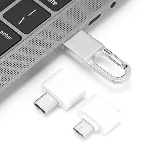 Mini disco en U con hebilla colgante, USB 2.0 portátil Flash Pen Drive Memory Cell USB Stick Gift HS132 con adaptador OTG, Plug and Play y adicional para dispositivos móviles(1G)