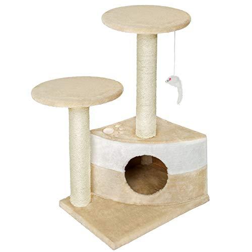 TecTake Tiragraffi per gatti gatto gioco palestra sisal nuovo altezza media - disponibile in diversi colori - (Beige | no. 400483)