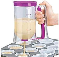 hsj LF- Pancake Batter Parfait Distributeur de Cuisson Outil for Cupcakes Gaufres Mélange à Muffins Crepes gâteau ou de To...