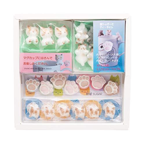ねこシュガークラフトセット 〔固型砂糖26個〕 福島県 砂糖 お菓子のアトリエ