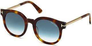 Sunglasses - FT0435 Janina 52P - Havana/Gradient Blue (51/22/140)