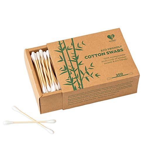 Coton-tiges en bambou - 600 pièces - Q Tips Vegan - Sans Plastique - 100% Biodégradable