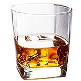 295ml Classico Bicchieri di Whisky di Vetro Spessore Bottom Whisky Vetro Trasparente Tazza di Vetro per Il tè della Birra Vino Bere Bar in Vetro Club,295ml